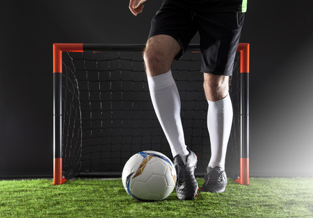 Man playing soccer concept Stock Photo