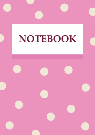 blanck: bussiness woman pink notebook design a4 with white circles