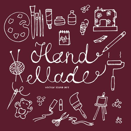 handcraft:  icons of handcraft tools