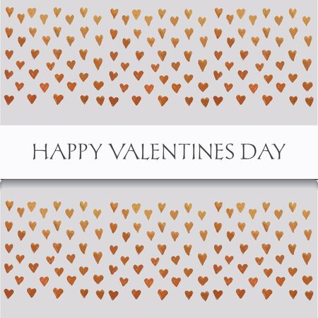 saint valentines: saint valentines card  with text and little golden hearts on grey background