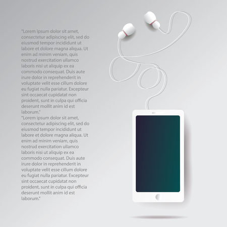 realistic smartphone illustration with text