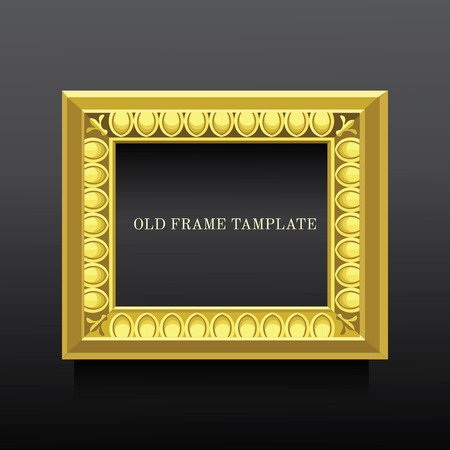 classicism: golden old classic frame  with ionics Illustration