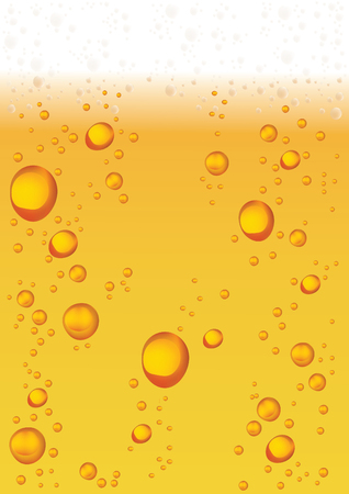 esp: Vector Water or Beer Drops On Yellow Background. Esp 10 Template