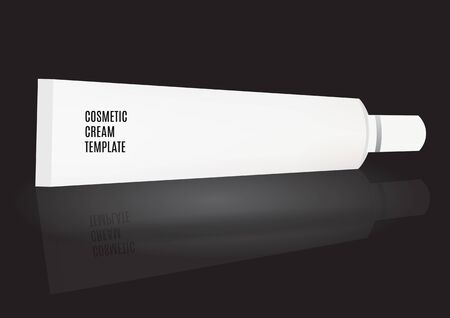 ointment: Vector Packing White Realistic Tube Package For Cosmetics Isolated On White Background. Mockup Cream, Lotion, Toothpaste, Gel,  Ointment, Medicine.