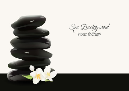 stacked stones: Spa Stones Realistic Vector Background. Isolated Vector Illustration. Template  for Cosmetic Shop, Spa Salon, Beauty Products Package, Medical Care Treatment. Web Site Design . Wallpaper and Backdrop. Illustration