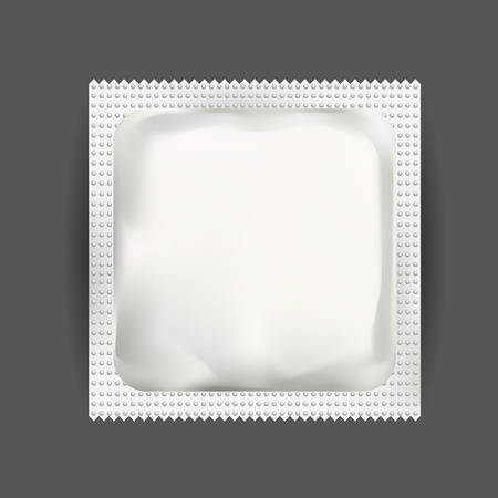pouch: White Blank Foil Pouch Packaging For Medicine Drugs , Coffee, Salt, Sugar, Pepper, Spices, Sachet, Sweets Or Condom. Isolated Mock Up Wrapper Template for Branding. Product Package. Illustration