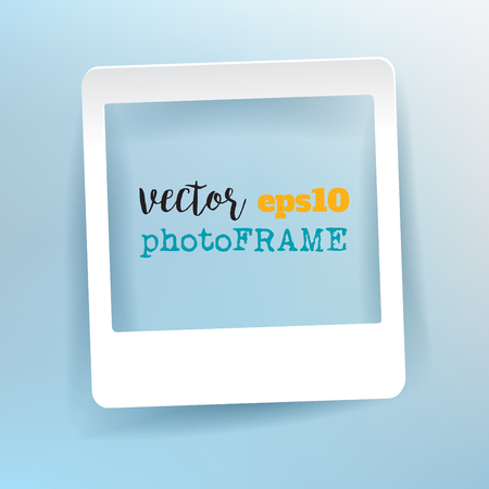 Vector Blank Photo Frame with empty space for your image. Illustration
