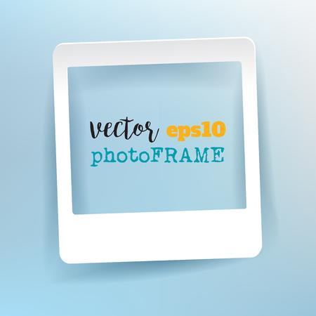 Vector leeg fotokader met lege ruimte voor uw afbeelding. Stock Illustratie