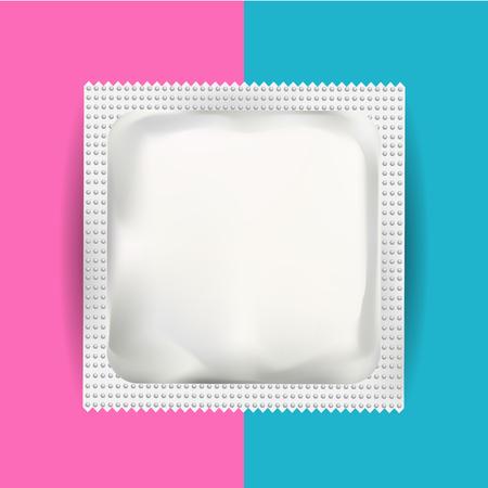 Blanc Blank Packaging Foil Pouch pour la médecine drogues, café, sel, sucre, poivre, épices, Sachet, bonbons ou un condom. Isolated Mock Up Modèle Wrapper pour l'image de marque. Package de produit.