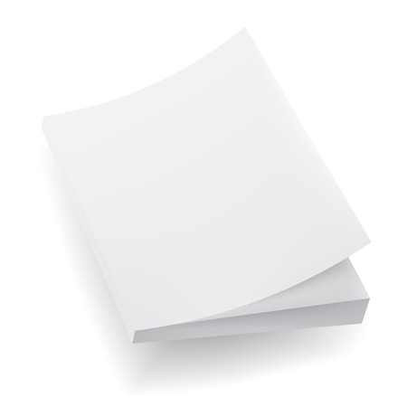 blank magazine: Blank  Mock Up Cover Of Notebook, Magazine, Book, Booklet, Brochure. Illustration Isolated On White Background. Template Ready For Your Design.