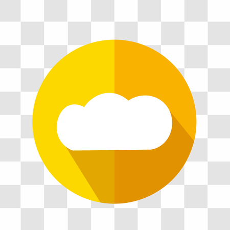 forecast: Cloud Icon. Weather Forecast. Vector Illustration.