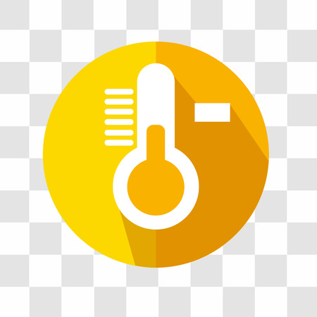 termometer: Thermometer Flat Icon. Weather Forecast. Vector Illustration.