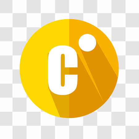termometer: Celsius Flat Icon. Weather Forecast. Vector Illustration. Illustration