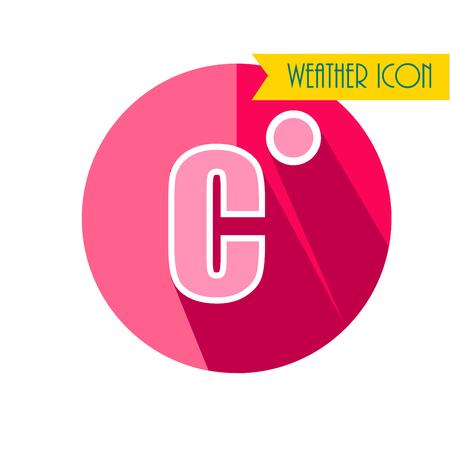 termometer: Celsium Flat Icon