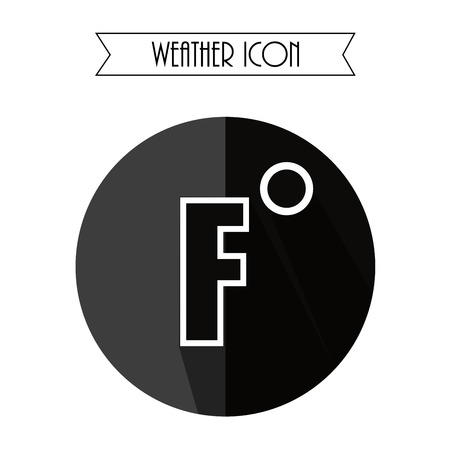 fahrenheit: Fahrenheit Flat Icon. Weather Forecast. Vector Illustration.