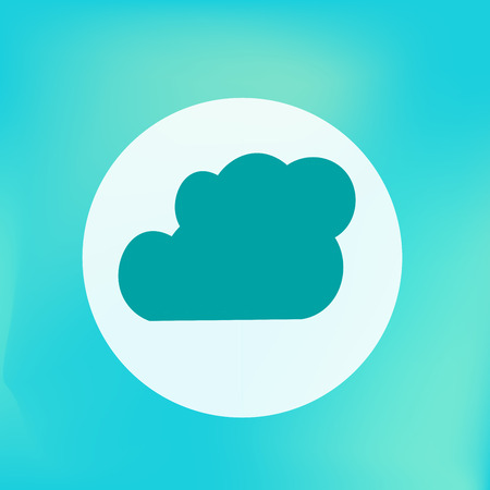 tehnology: Cloud Icon. Weather Forecast. Vector Illustration.