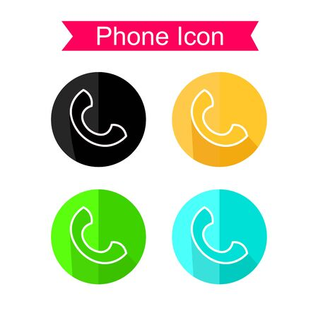 receiver: Telephone receiver vector Set. Phone Icons Illustration