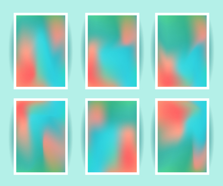 holography: Bright colorful holographic background set. Design for greeting card, report, cover, book, print, fashion. Modern hipster style trends