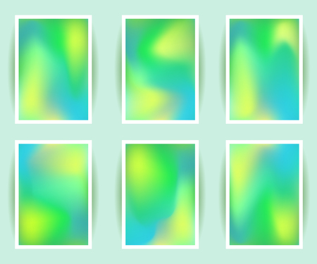 holographic: Bright colorful holographic background set. Design for greeting card, report, cover, book, print, fashion. Modern hipster style trends