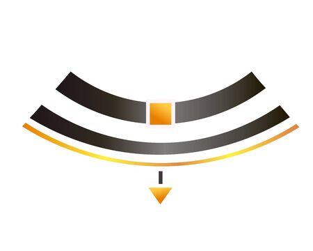 Realistic Modern Necklace - Choker. Vector Illustration