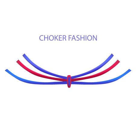 choker: Realistic Modern Necklace - Choker. Vector Illustration