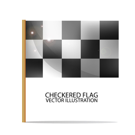 rallying: Checkered Flag. Race Symbol. Realistic Illustration.