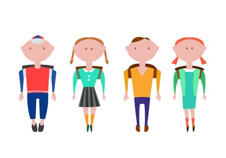 pupils: Pupils Going Back to School Illustration