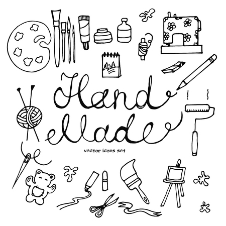 decorate notebook: hand drawn hobby icons