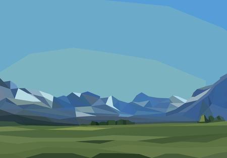 montagnes et paysage de champ vert