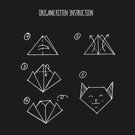 instruction: cat origami step by step instruction