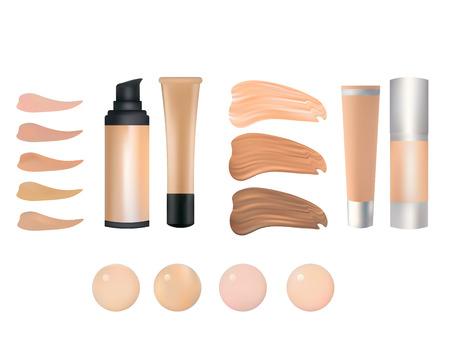 skin tones: make up foundation palette Illustration