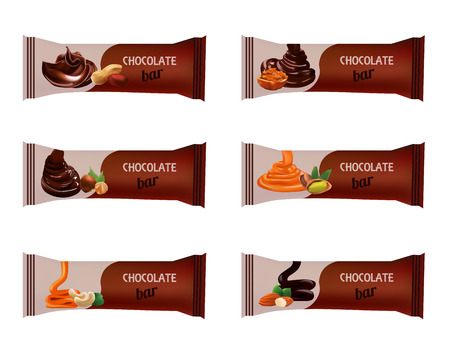 Chocolate Bar isolated on White. Vector Illustration