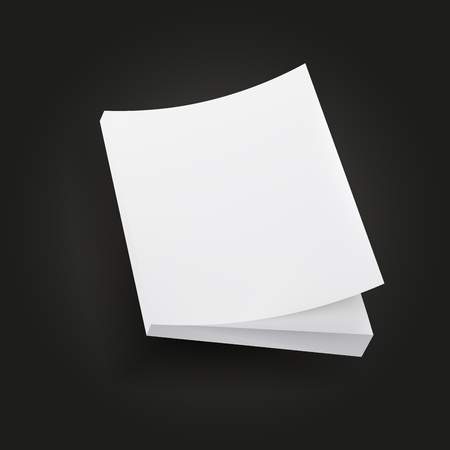 open magazine: white empty book or magazine mockup isolated illustration