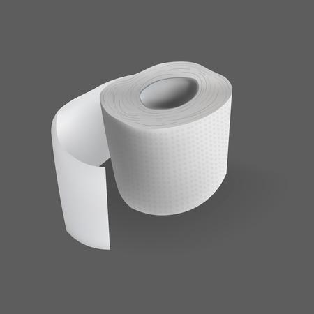 Papel higiénico rollo vector ilustración realista Foto de archivo - 88619603