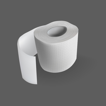 toilet paper roll vector realistic illustration