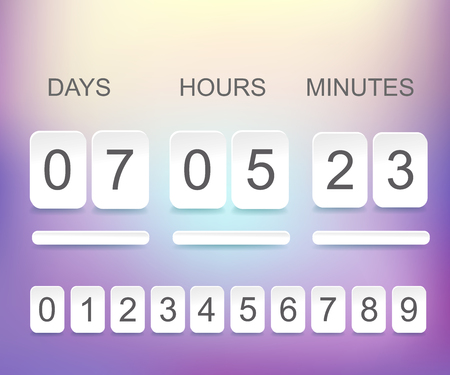 Countdown timer template vector illustration