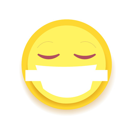 Emodji Icon. Emoticon for chat, messages,web. Isolated vector illustration on white background