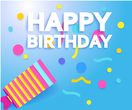 Happy Birthday greeting card or poster design