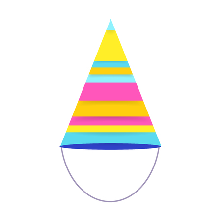 Party hat for happy bitrhday. Isolated object.Vector illustration Standard-Bild - 96742628