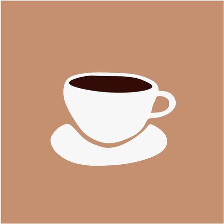Abstrakte minimalistische Tasse Kaffee Illustration. Getränke handgemalte Kunst