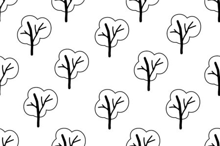 Black and white abstract seamless pattern. Vector minimalist simple background