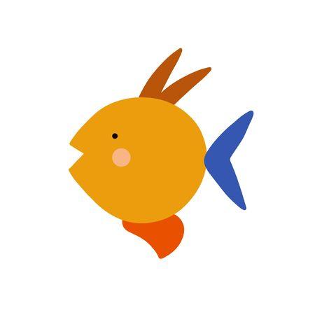 Cartoon abstract animal illustration. Vector baby icon 向量圖像