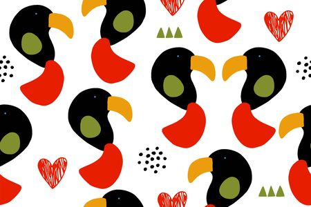 Seamless vector animal pattern. Vector baby cartoon abstract background