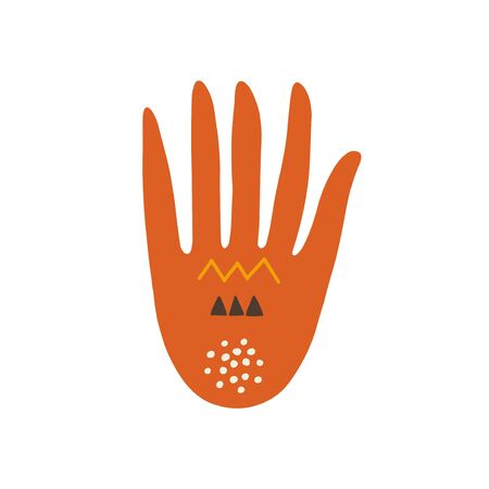 Abstract hand illustration. Body part vector icon