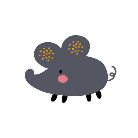 Cartoon abstract animal illustration. Vector baby icon Illustration