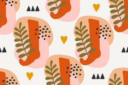 Abstract simple modern background. Seamless vector hand drawn pattern