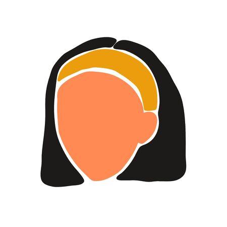 Abstract woman face. Modern art portrait vec tor illustration