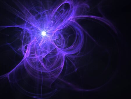 Fractal image of an abstract futuristic star for a background. photo