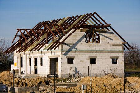 New single family house under construction. Stock Photo - 4550873