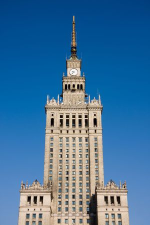 Palace of Culture and Science in Warsaw, Poland. The symbol of communism. photo